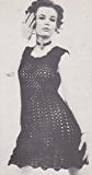 Top-Over Crochet Dress Pattern Small Medium Large Bust Sizes: 32, 37, 42