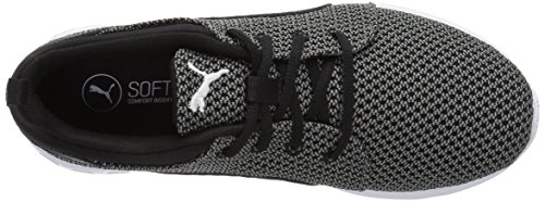 Puma Carson Knitted Synthetik Turnschuhe Quiet Shade-Puma Black
