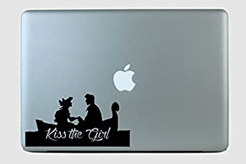 Amazoncom Eric and Ariel On The Boat Kiss The Girl Vinyl Decal