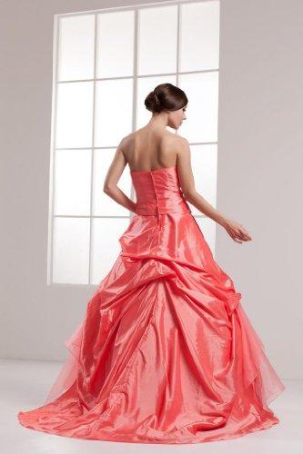 Orange BRIDE mit Blickfang GEORGE Taft Kleid handgemachten Blumen PHwOW7Fqv