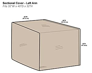 Protective Covers Right Arm Sectional Covers, One Size, Tan by Protective Covers