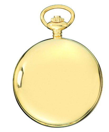 Charles-Hubert-Paris-3904-G-Premium-Collection-Gold-Plated-Stainless-Steel-Polished-Finish-Double-Hunter-Case-Mechanical-Pocket-Watch