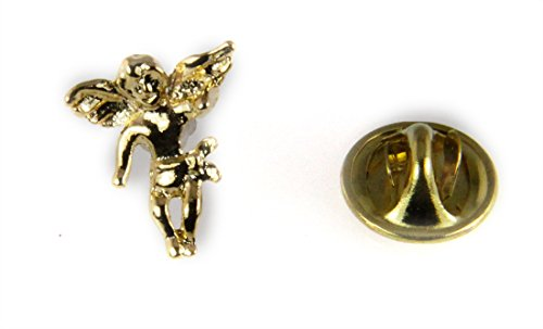Gold Angel Lapel Pin - 6030275 Guardian Angel Lapel Pin Brooch Tack Pin Christian Religious Jewelry
