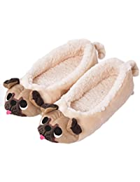 Winter Women's Plush Winter Warm Animal Soft Cute Home Slippers