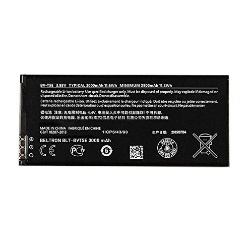 - New 3000 mAh BELTRON Replacement Battery for Microsoft Nokia Lumia 950 BVT5E BV-T5E (BLT-BVT5E)
