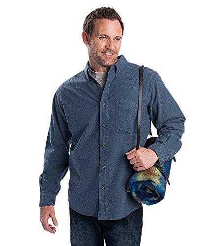 Woolrich 6109 Mens Sportsman Chamois Shirt, Midnight Blue Heather, ()
