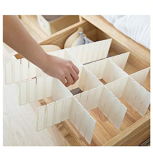 ♚Rendodon♚ Storage Box, House Storage, Plastic Storage Splitting Grid, Home Kitchen Board Divider Adjustable Storage Box Drawer Organizer Box (L: 44.5x13cm)