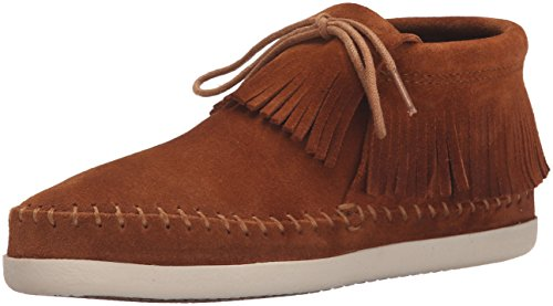 Minnetonka Womens Venice Moc Bootie,Brown Suede,US 6.5 M