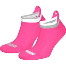 Ladies 2 Pair Puma Jet Cat Sneaker Running Socks