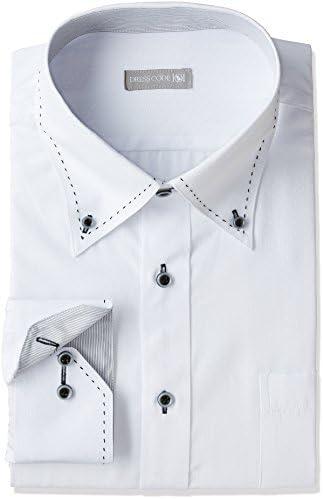 ビッグサイズにもデザインシャツを。ゆったり 大きいサイズ Yシャツ 長袖 LL 3L 4L 5L BIGSHIRT メンズ 首回り43×裄丈86 (日本サイズLL相当)