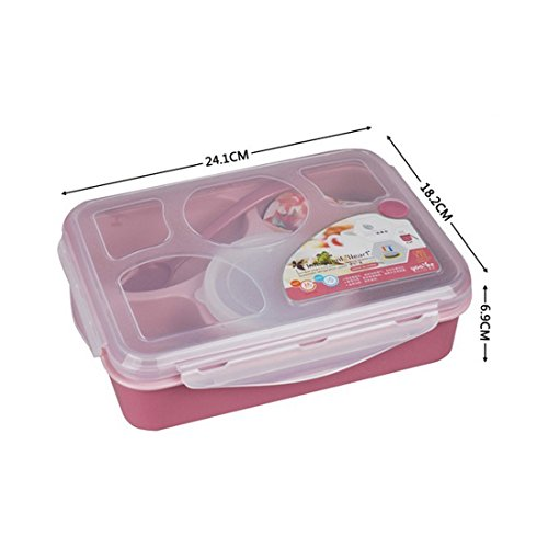 lunch bento box container leakproof microwave and dishwasher safe fresh bento with separated. Black Bedroom Furniture Sets. Home Design Ideas