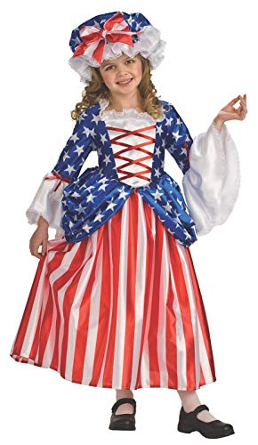 Rubie's Child's Deluxe Betsy Ross Costume, Small -