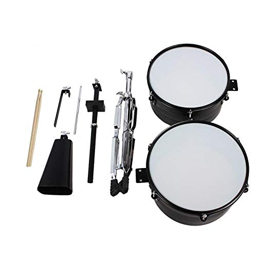 Redberrey Latin Percussion Roadshow Set Drum Set with Stand and Bell Drum Snare Drum Percussion Instrument Bull Bell Drum