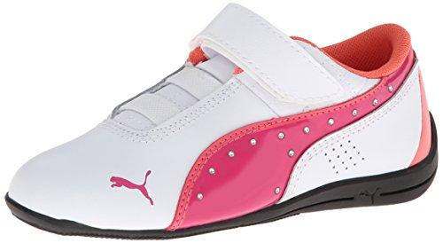 PUMA Drift Cat 6 Diamonds V Sneaker, White/Fuchsia Purple, 11 M US Little Kid ()