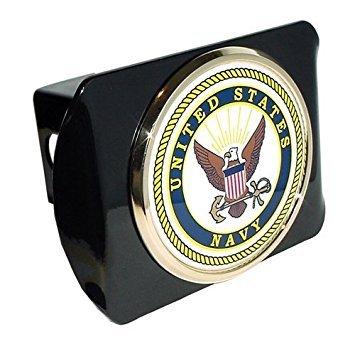 US Navy METAL emblem on chrome METAL Hitch Cover