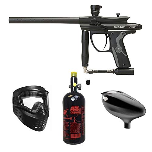 MAddog Kingman Spyder Fenix Beginner HPA Paintball Gun Package - Black