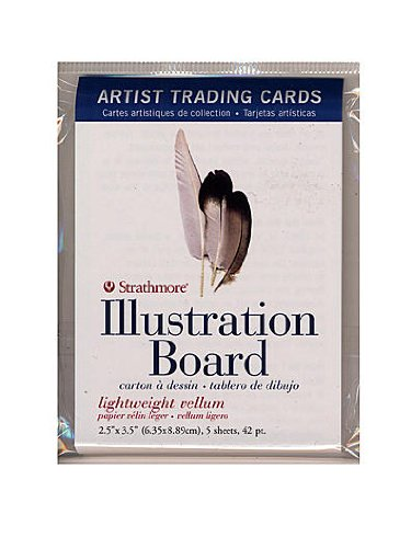 Strathmore Artist Trading Cards 500 Series Illustration Board pack of 5 [PACK OF 6 ] by Strathmore