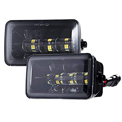 2018 Upgrade LED Fog Lights for 2015-2018 Ford F150 4 Inch LED Fog Light Assembly Kit,48W CREE Waterproof LED Bumper Lamps Set-1Pair