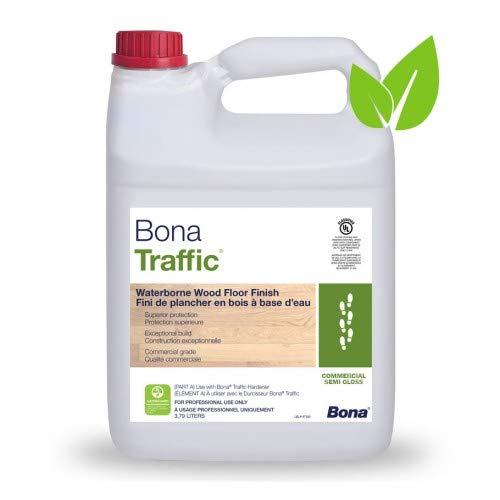 Bona�Traffic Waterborne Wood Floor Finish - Semi-gloss (Best Poly For Hardwood Floors)