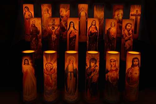 St Michael the Archangel Devotional Prayer LED Flameless Candle with 4hr Timer