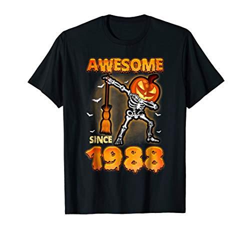 (1988 Birthday Dabbing Skeleton Halloween)