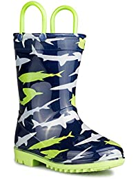 Rainboots For Boys, Girls & Toddlers – Fun Kids Prints, Pull On Handles