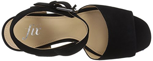 Black Single Platform Women's Buckle Sandal Dress The Fix Farah wt181