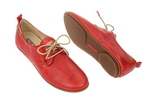 Pikolinos Calabria 7123 - Zapatos de cordones de cuero para mujer Carmin