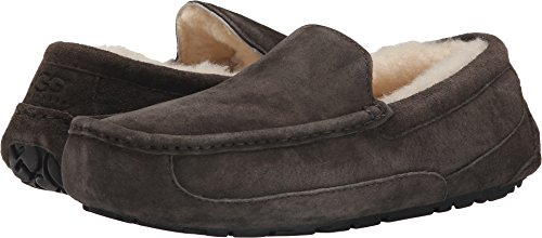 UGG Men's Ascot Slipper, Charcoal, 9 3E US (Best Uggs For Narrow Feet)