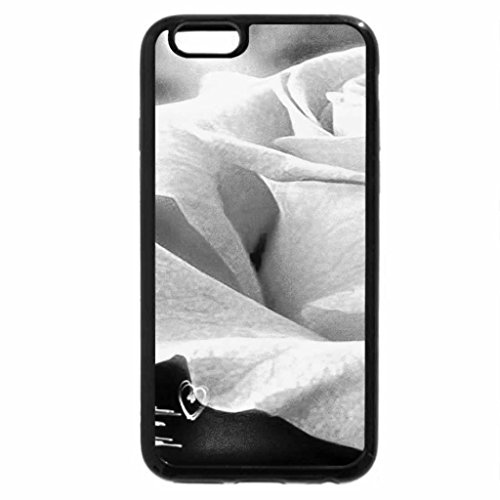 iPhone 6S Case, iPhone 6 Case (Black & White) - the old rose