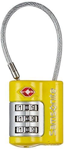 Samsonite Travel Accessor. V - US Air Tr3dial Cable Lock Gepäckschloss, Gelb
