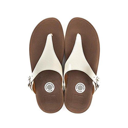 Fitflop Womens Le Tissu Skinny Flip-flop Urbain Blanc
