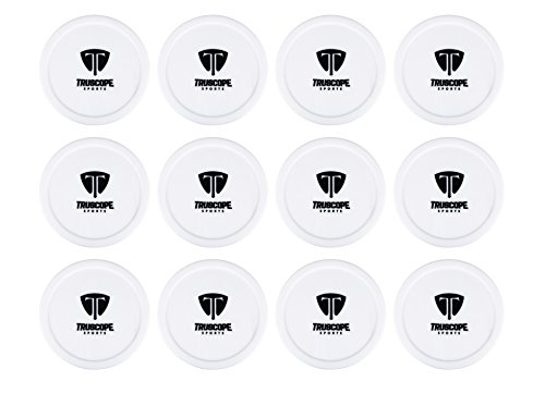 Truscope Sports 12 Pack 3 1/4 Inch Air Hockey Pucks (White)