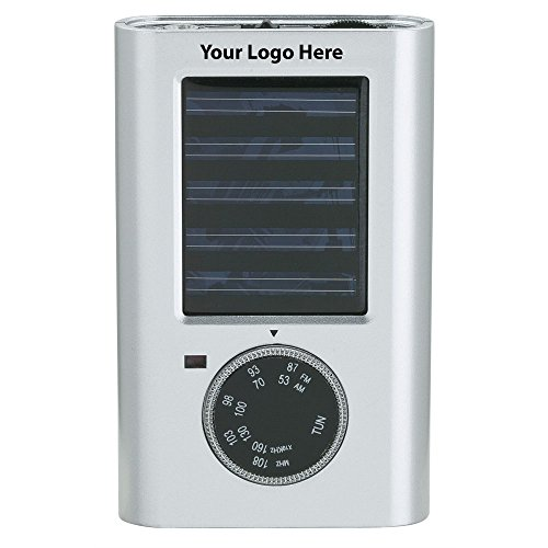 Solar Radio - 50 Quantity - $16.25 Each - PROMOTIONAL PRODUCT / BULK / BRANDED with YOUR LOGO / CUSTOMIZED by Sunrise Identity