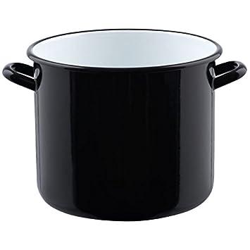 emaille topfe riess topf mit bardel kochtopf quotriesenquot schwarz emaillierte reinigen