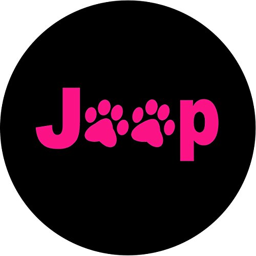 Jeep Paws PINK Tire Cover 265/70r17 Jeep RV Camper Trailer & more(Select popular sizes in drop down menu or contact us-ALL SIZES AVAILABLE)