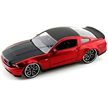 2010 Ford Mustang GT LOPRO 1:24 Scale - Red w/ Extra Rims!