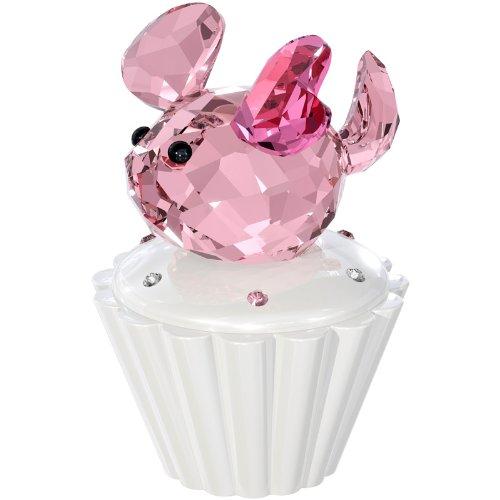 Swarovski Mouse Figurine, Pink Cupcake