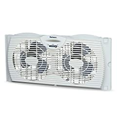 The Holmes 7-Inch Twin Window Fan with Reversible Air Blades helps to maintain your comfort level with two speed settings. Manually reverse your fan to intake fresh air and exhaust stale air. It is designed to fit most double-hung and slider ...