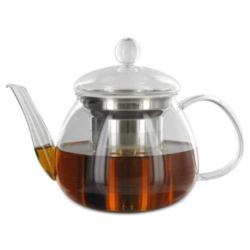 Adagio Teas 17 oz. Petit Glass Teapot & Infuser (Teapot Adagio Glass Teas)