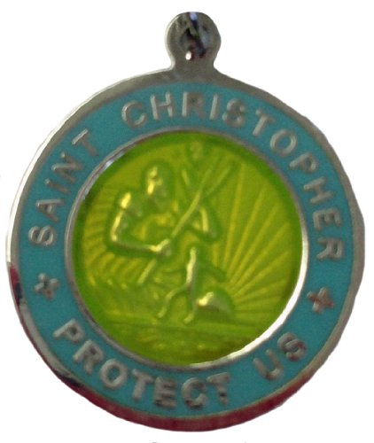 Get Back Designs St. Christopher Surf Medal - Small Yellow/Baby Blue