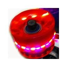 Longboard Skateboard Cruiser Wheels w/ Light 60x45mm (Clear Red) by Everland