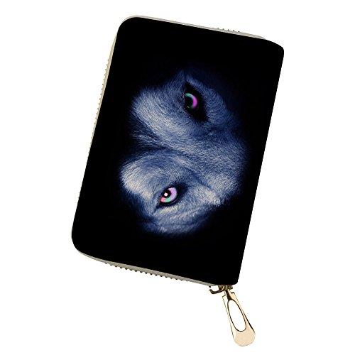 Owl Animal Holder Print 3D Black Card 2 Credit wolf Wolf Tiger Wallet Lion xHWU0cqfwz