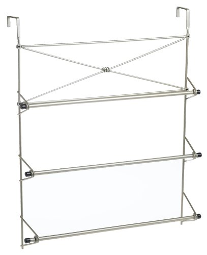 Zenna Home 2526NN, Cross Style Towel Rack, Satin Nickel (Crisscross Wine Rack)