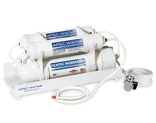 APEC US Made Portable Countertop Reverse Osmosis Water Filter System (RO-CTOP) Installation-Free, fits most STANDARD FAUCET