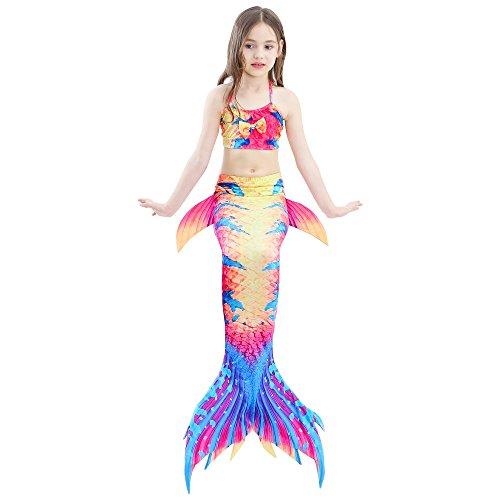 di per Dh07 sirena bagno da scintillante monopinna con SAIANKE nuotare coda 5Iq611
