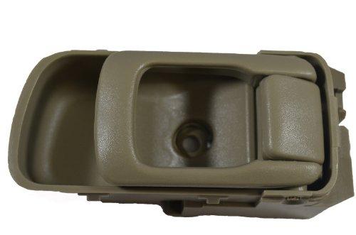 Inside Interior Inner Door Handle PT Auto Warehouse NI-2544E3-RH - Passenger Side Olive Beige//Tan