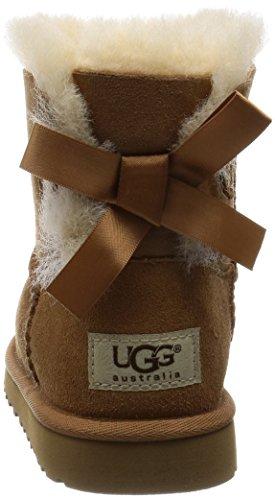 UGG Australia Mini Bailey Bow, Botines Unisex Niños Marrón (Chestnut)