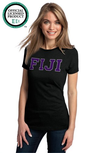 Ann Arbor T-shirt Co Women's PHI GAMMA DELTA -Fitted, FIJI Fraternity T-Shirt