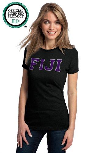 JTshirt.com-20051-Ann Arbor T-shirt Co Women\'s PHI GAMMA DELTA -Fitted, FIJI Fraternity T-Shirt-B00DROXTYK-T Shirt Design